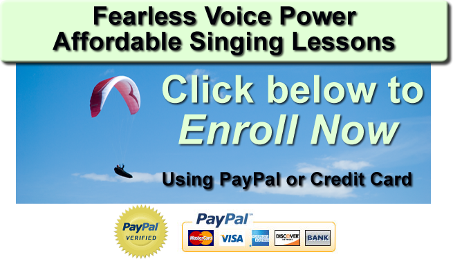 Fearless Voice Power affordable singing lessons enroll now